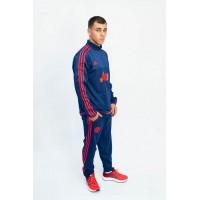Мужской спортивный костюм Adidas (реплика) 99985 темно-синий-красный