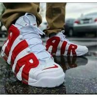 Кроссовки Nike Air More Uptempo 96 PRM  4149 бело-красные